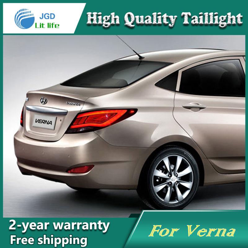 Opzione di trasporto luci di coda di Coda Lampada Led per Hyundai Solaris Accent Verna segnale fanale posteriore a led drl lampada posteriore + freno + reverse