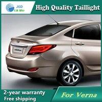 Shipping Option Led Tail Lamp for Hyundai Solaris tail lights Accent Verna led tail light drl rear lamp signal+brake+reverse