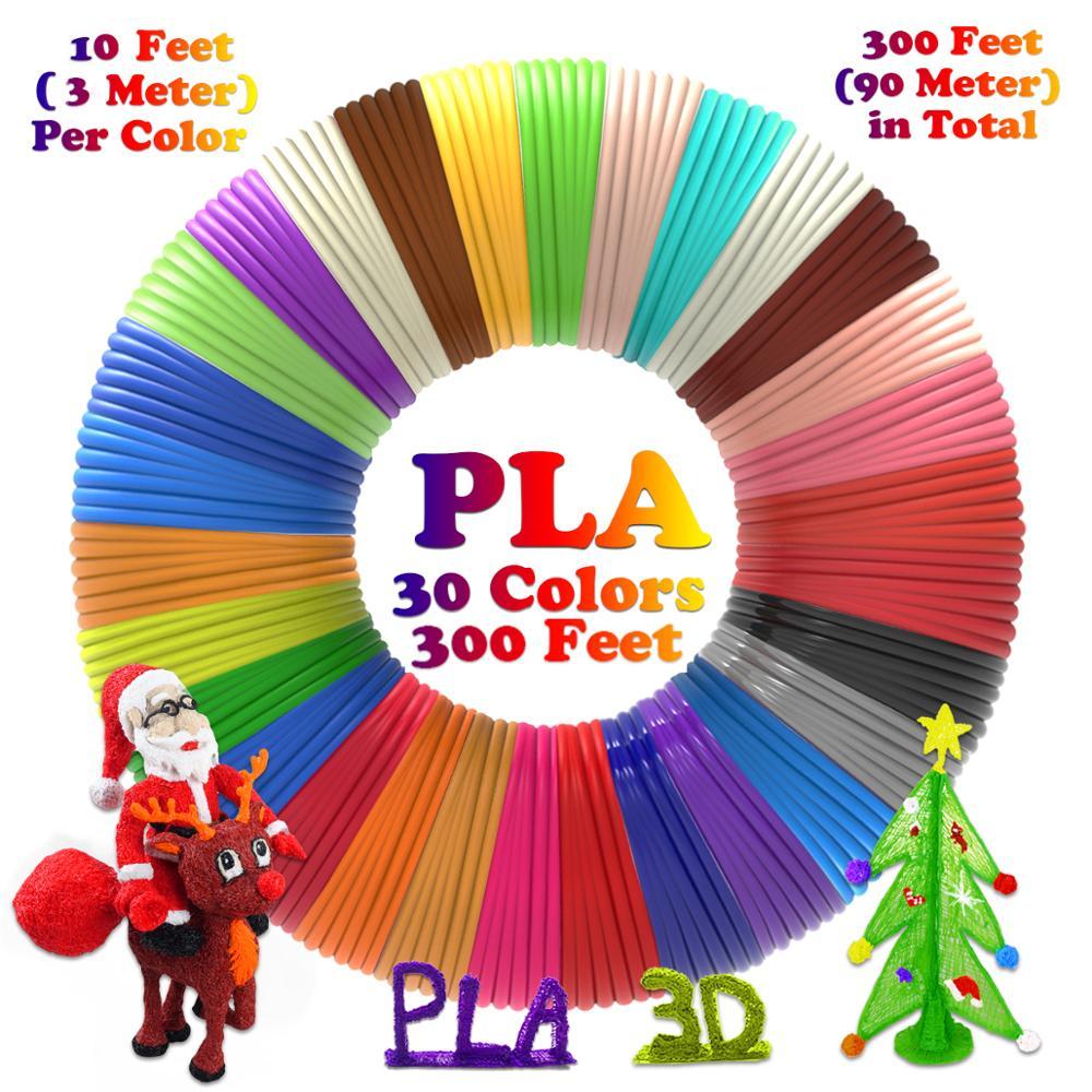 Dikale 3D Printer PLA Filament 30Colors 1.75mm Impresora 3D Filamento Glow In The Dark Wire For 3D Pen Vulling PLA Plastic Resin