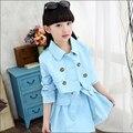 Criança conjuntos de roupas casuais miúdo meninas coreano conjuntos de roupas da criança vestido + Coats conjunto adolescentes de manga comprida vestido + casaco 2 terno