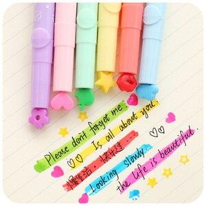 Image 3 - 36 sztuk/partia ładne wyróżnienia kolor znaczek Marker długopisy dla czasopisma Notebook narzędzia dla majsterkowiczów Zakka biurowe biurowe szkolne A6285