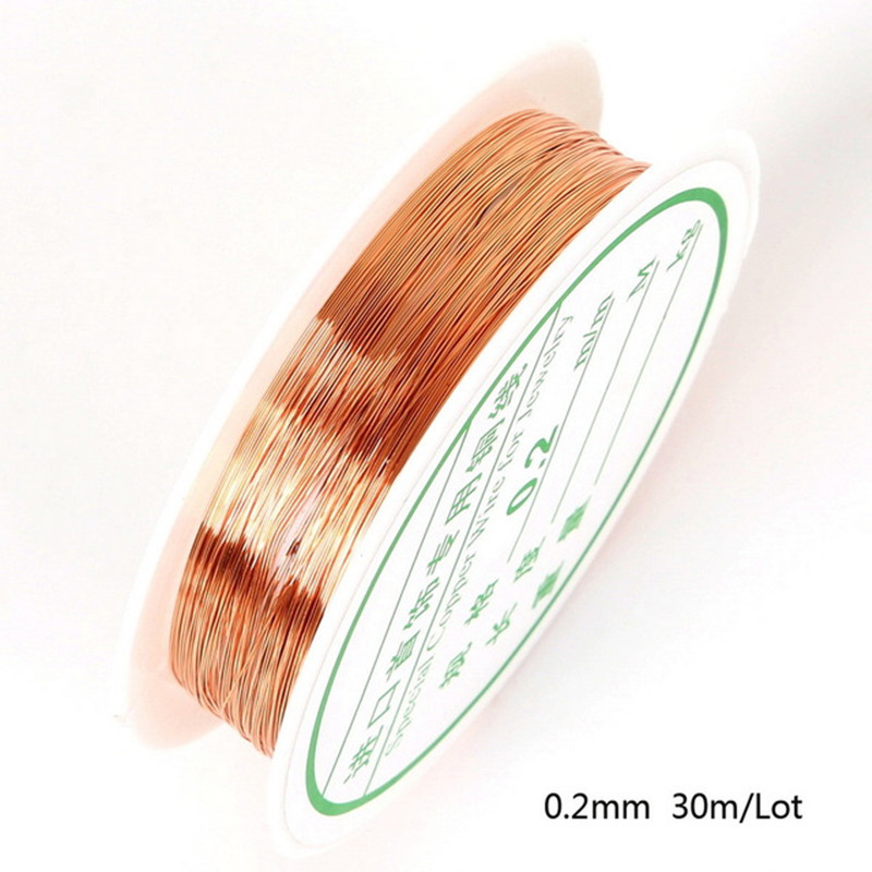 30/20/15/8/<font><b>7</b></font>/5/<font><b>3</b></font>/2m Rose Gold Beads Rope Copper Wires Craft Beading Wire For Bracelet Necklace Cord String Jewelry Accessories image