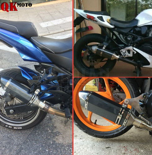 FOR HONDA CBR125R CBR300R CB300F CBR500R CB500F/X CBF1000 36-51MM Motorcycle Exhaust Muffle Pipe Stainless Steel Exhaust Pipe цена