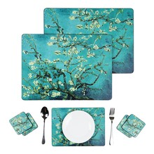 ABMIDEA 2pcs/LOT Wood Placemat Classic Table Dish Bowl Mat Waterproof Non-slip Heat Resistant 128L Birthday Mother's Day Gift(China)