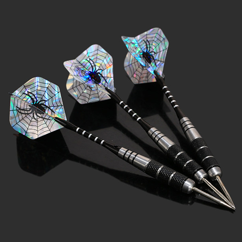 3Pcs/Set Professional Tungsten Steel Needle Tip Darts With 3 Blue Dart Flights Outdoor Entertainment Dart