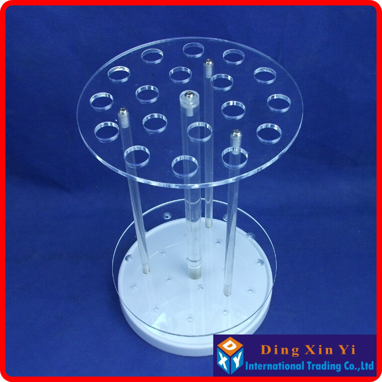 Organic glass18 holes circular pipette stand graduated pipette rack pipette holder circular pipet rack
