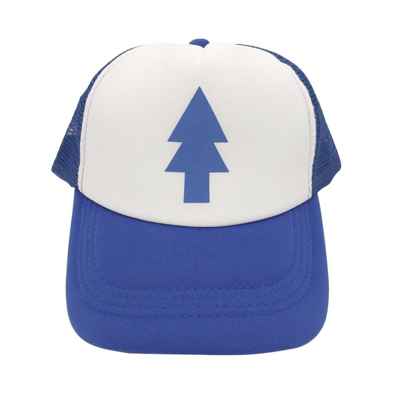 Outdoor Unisex Women Men Curved Bill BLUE PINE TREE Dipper Gravity Falls Cartoon Mesh Hat Cap Trucker Baseball Hat