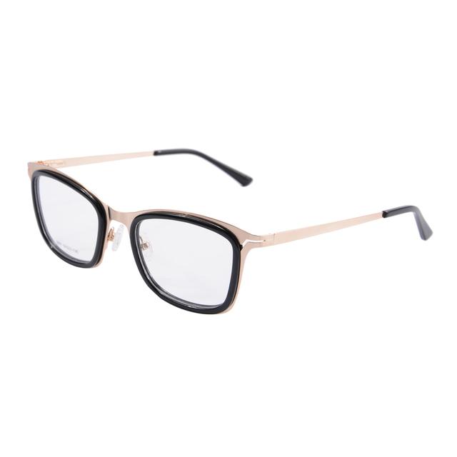 Óculos de quadros mulheres óculos de metal óculos com lente 2601