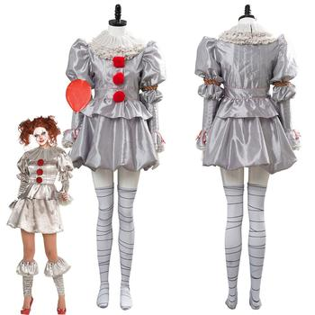 Adult Women IT Stephen King It Pennywise Cosplay Costume Stephen King's It Clown Carnival Halloween Costumes Custom Made