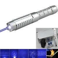 High Power Blue Burning Laser Pointer Pen Powerful 450nm Blue Lazer Burning Match Cigarette Paper High Quality