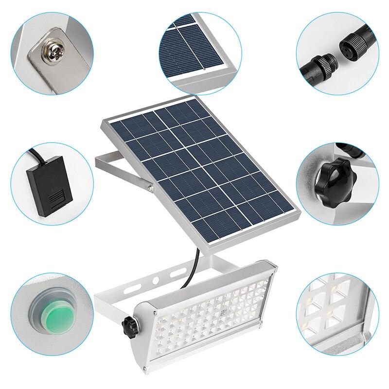 Image 2 - 65 Leds Solar Power Lamp With Rremote Control12W Spotlight Wireless Outdoor WaterproofGarden 48LEDs Solar Energy Street Light-in Solar Lamps from Lights & Lighting