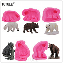 Gadgets,Dog bear mould,Silicone Rubber Flexible Food Safe Mold  Bear silicone moldclay fondant candy chocolate cupcake