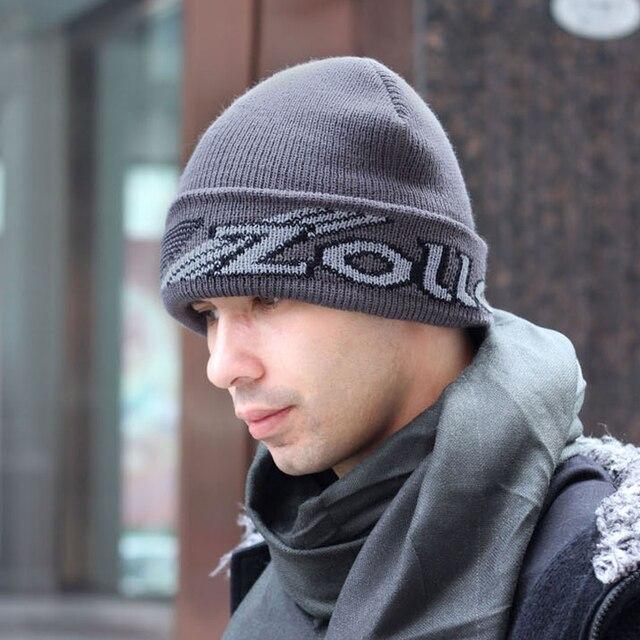 Шляпа мужской осенью и зимой вязаная шапка открытый термальный утолщение плюс бархат ухо winterisation