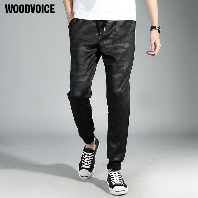 874588b59a Woodvoice 2017 New Fashion Harem Pants Sweatpants Camouflage Jogger Pants  Solid Pencil Pants Outdoors Joggers Slim Male Trousers-in Sweatpants from  ...