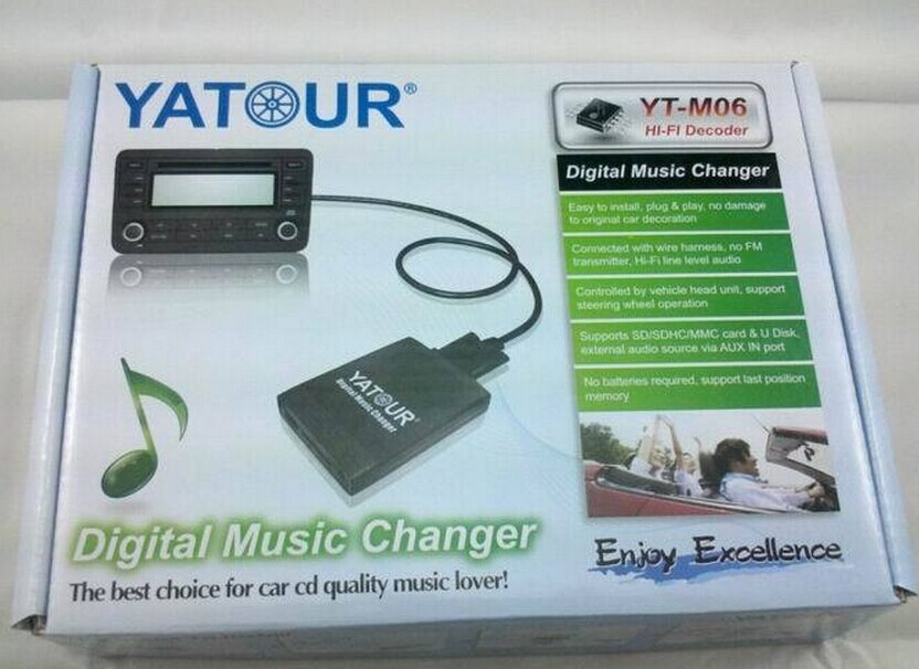 Yatour Audio Digital Music Changer for Ford Explorer Focus MK1 Fiesta MK4 Europe 5000RDS 6000CD RDS 12pin Car mp3 Player adapter in Car MP3 Players from Automobiles Motorcycles
