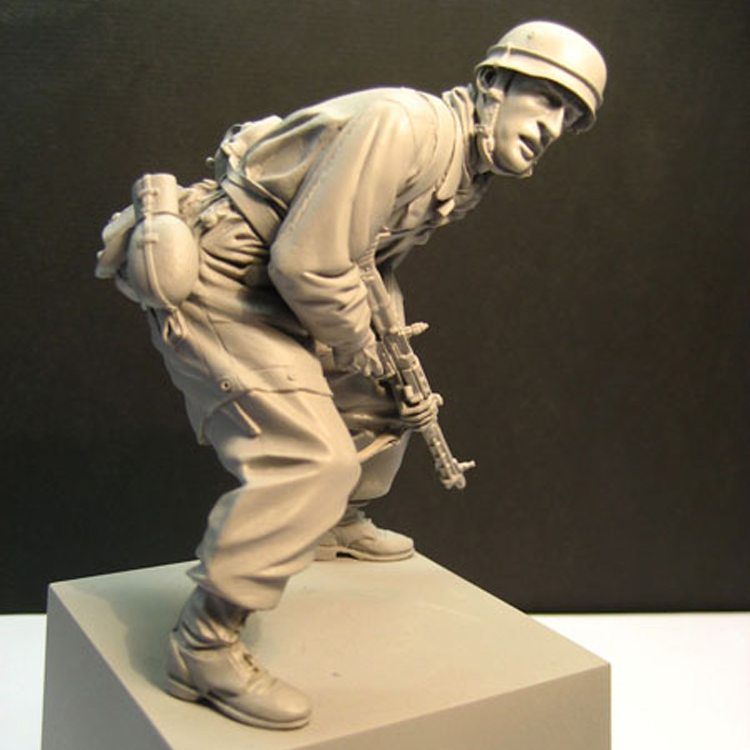 Unpainted Scale 1/16 120mm Uncolor Paratrooper Not Have Base  Toy Resin Model Miniature Resin Figure Unassembly Unpainted