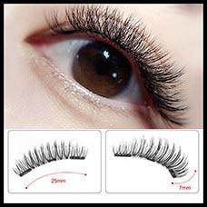 ca74893ff78 False Eyelashes Magnetic Natural 3 Magnets Set Natural Long Wearing ...