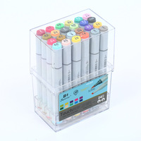 Superior 24 Colors/Set Advanced Art Marker Pen Grease Alcohol Marker Double Drawing Pen Touch Brush