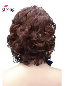 Image 4 - StrongBeauty Womens Short Curly Heat Resistant Synthetic Auburn Hair Wigs COLOUR CHOICES