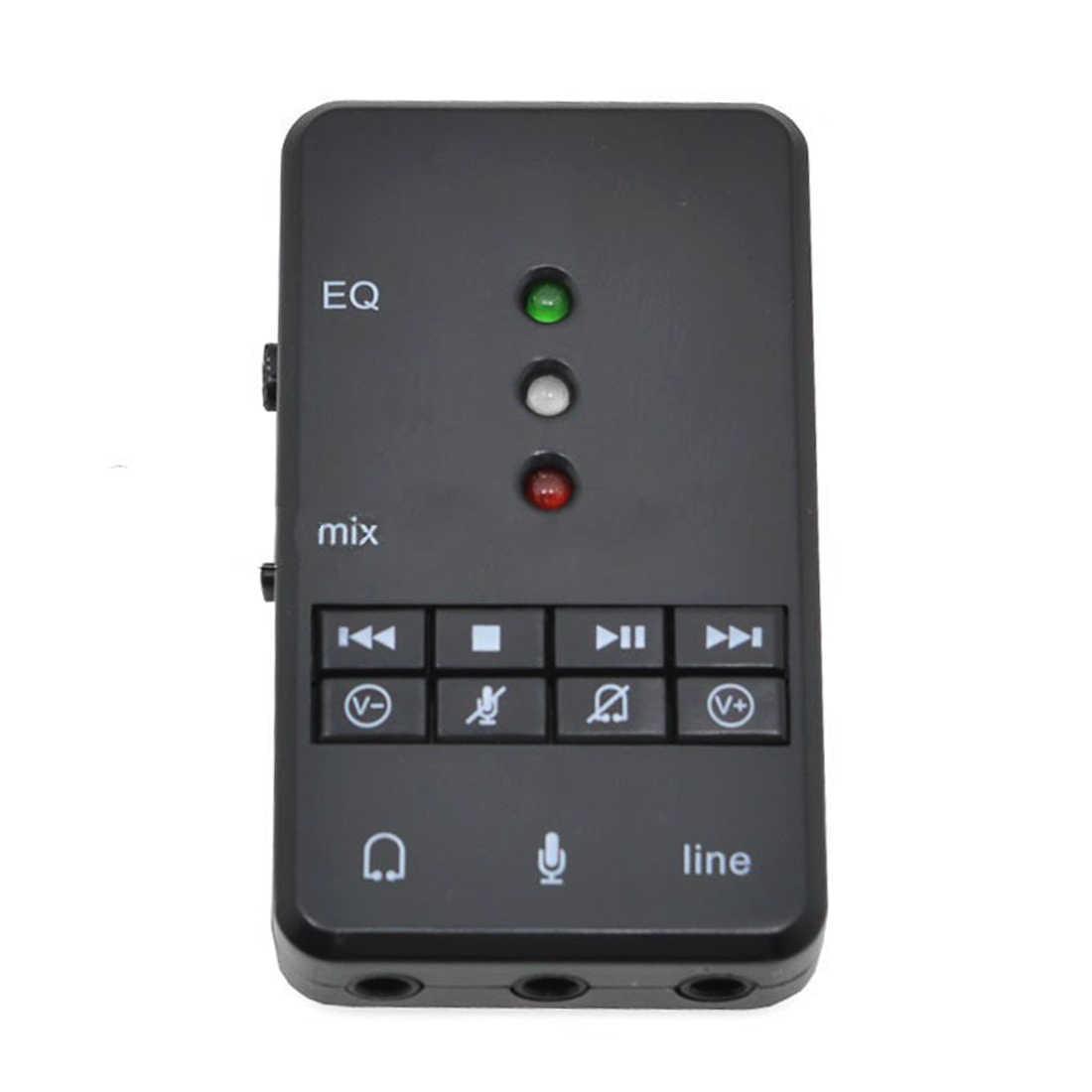 NOYOKERE новый внешний USB адаптер звуковой карты 7,1 канальный 3D Аудио гарнитура микрофон 3,5 мм разъем для ПК ноутбук Win XP/78 Linux