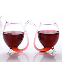 Creative 2Pcs 300ml Vampire Devil Red Wine Glass Cup Transparent Glassware Mug With Built In Drinking