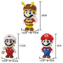 Classic cartoon game image super mario bros nanoblock nintendoes Bee clothes image micro diamond building block assemable toys(China)