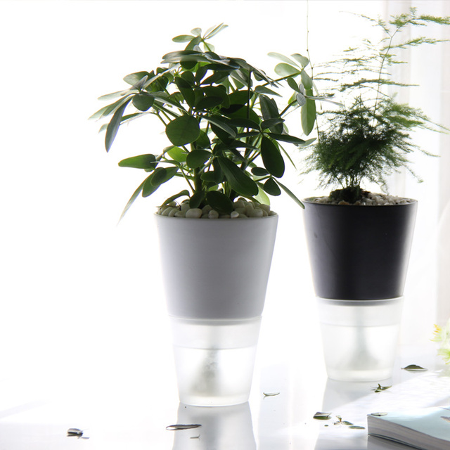 Automatic Water Flower Pots Office Ceramic Free Watering Vase