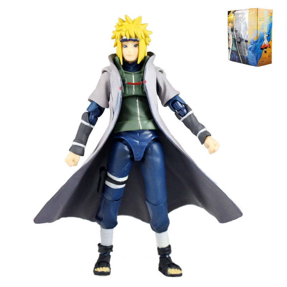 Anime Naruto Namikaze Minato 5.5 Action Figure Replace Hands Face Model Toy Christmas Gift Replica HY080 Free Shipping hot anime naruto 4th hokage namikaze 6 action figure collectible pvc model gift toy