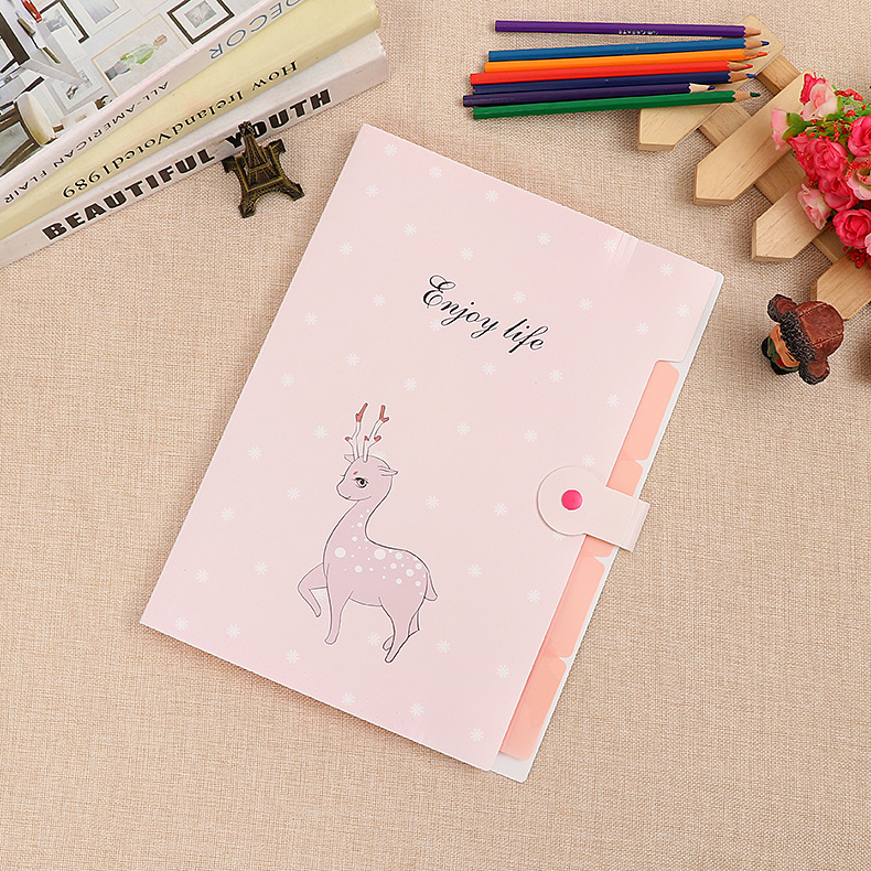 Production A4 Multi-storey Cartoon Organ Package Student To Work In An Office General Purpose PP Plastic File Accept Bag