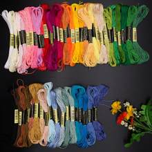 50/100Pcs Embroidery Thread Cross Stitch Cotton DIY Floss Skeins Sewing Tools(China)