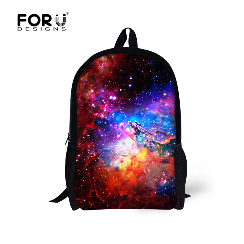 FORUDESINGS 3D Galaxy Backpack For Teenagers Girls Space Star Children School Backpacks Kids Bagpack Women's Travel Bag Mochila