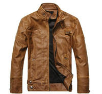 Men's Leather European And American Fashion, Cultivate One's Morality Men's Locomotive Pu Leather And Velvet Jackets