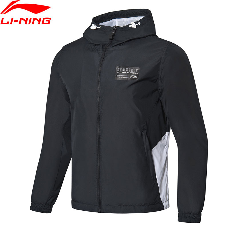 Li-Ning Men The Trend Windbreaker Jacket Polyester Regular Fit LiNing Li Ning Sports Hooded Wind Jackets Coats AFDP037 MWF384