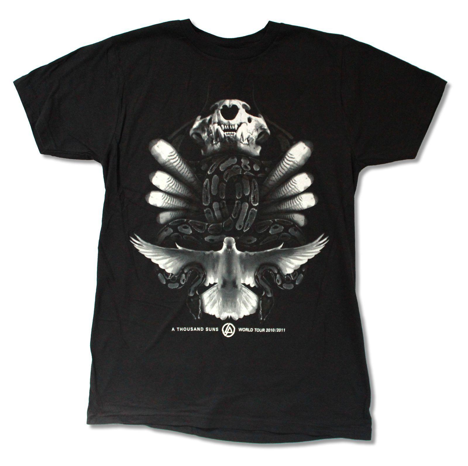 """LINKIN PARK """"змей TOUR"""" черная полоса футболка Новый Официальный взрослых Ретро топы, футболки"""