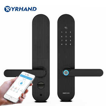 YRHAND Biometric Fingerprint Lock, Security Intelligent Lock With WiFi APP Password RFID Unlock,Door Lock Electronic Hotels - DISCOUNT ITEM  48 OFF Security & Protection