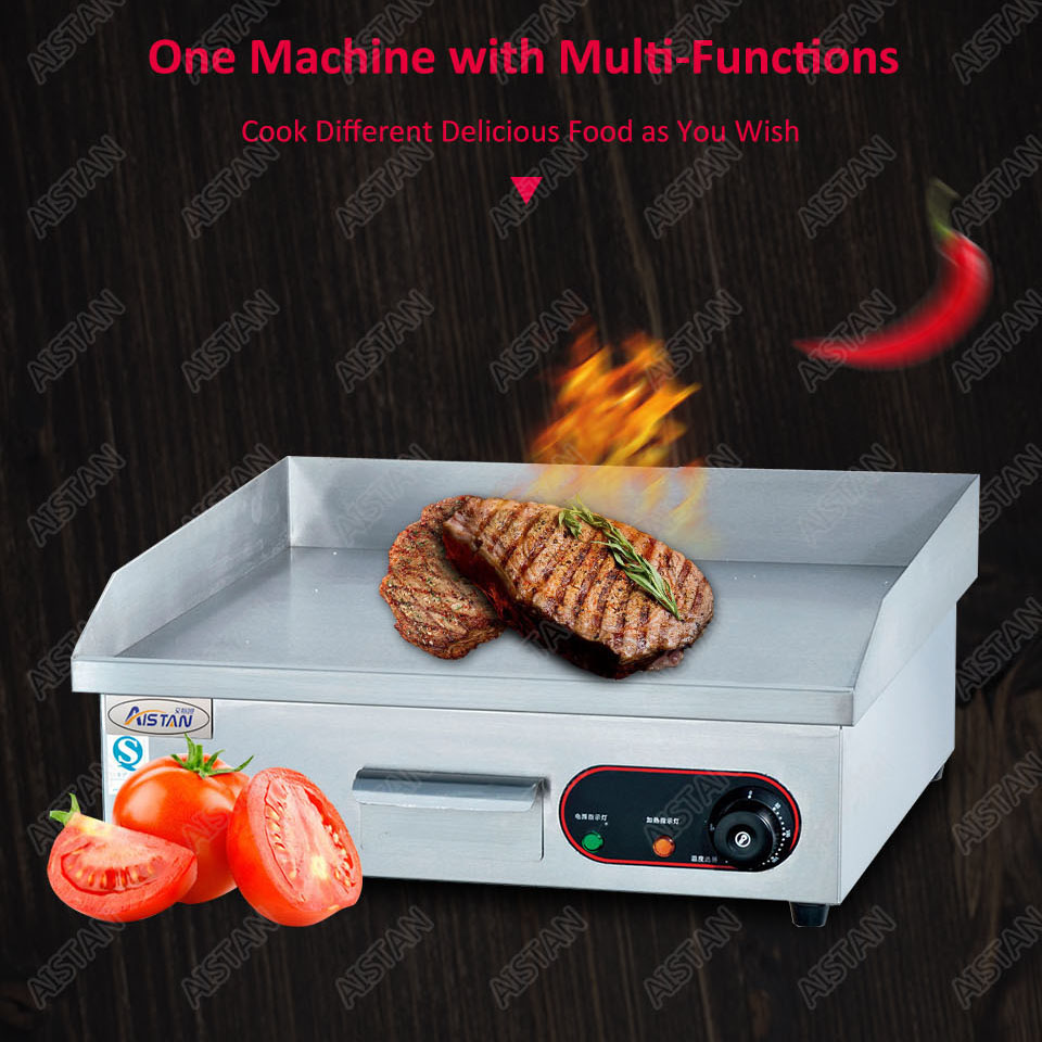 GH718 counter top desk top gas commercial grill griddle machine with grooved for kitchen equipment 6