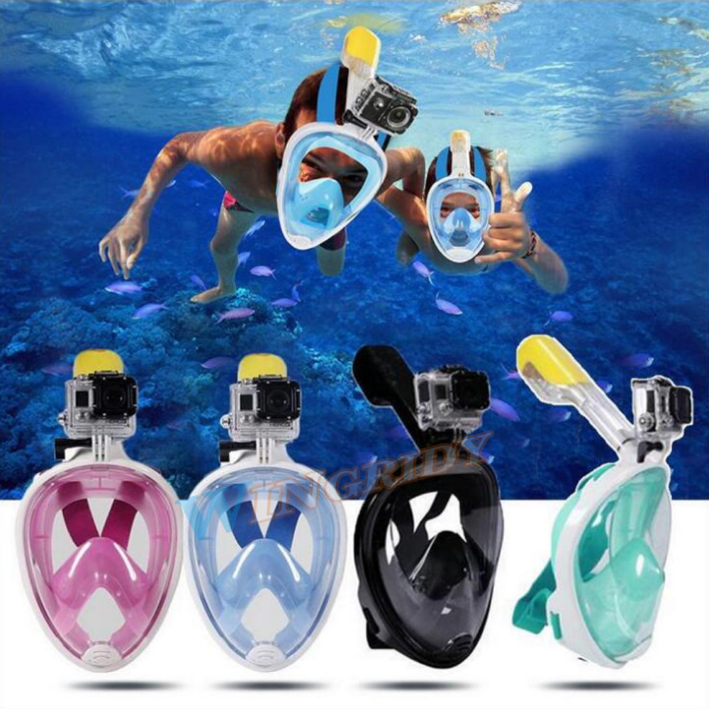 Underwater Photographic Mask full face snorkeling mask For Gopro Camera S/M/L/XL