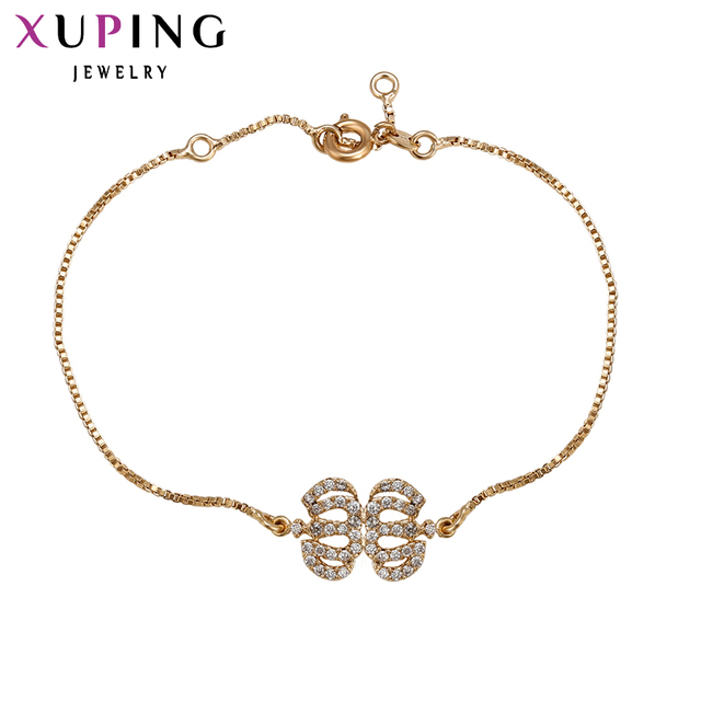 71d3a13ff908f US $7.97  Xuping Fashion Bracelet New Arrival Elegant Women Friendship  Bracelets Gold Color Lower Price Top Quality Jewelry 73942-in Chain & Link  ...