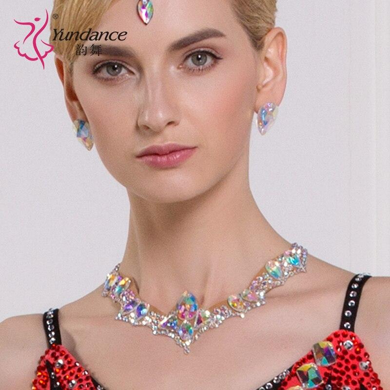 Lady Modern Dancing Neckties Girls  National Standard Necklines Diamonds  Latin Accessories Female Dancing Necklace Wear  B-6590