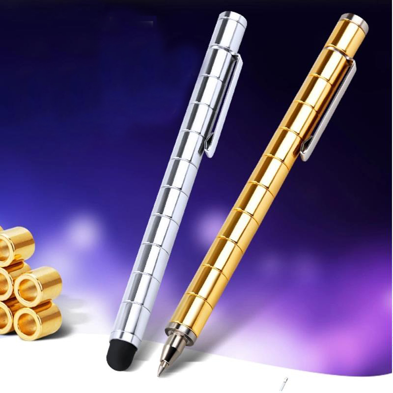 High Quality Fidget focus Magic Magnetic capacitance ball pen Spinner Tri-Spinner Full metal ballpoint pen 03655