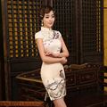 2017 Autumn Chinese Tradition Dress Women Cheongsam Retro Style Qipao Bird Painting Dress Slim Suit Girl Party Clothes