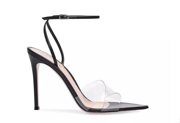 Fino Zapatos 34 Vestido Mujer Sandalias De Tacón luz Nuevo Bombas Marca Las Negro Más 42 Verano Pvc Alto Diseñador Material Amarilla 2019 Mujeres Moda HOqZwSx6