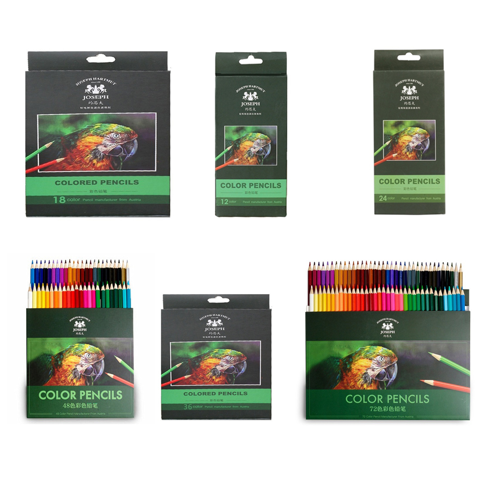 Wooden Color Pencil Set Pastel Pencil Professional 18/36/48colors Stationery Crayons Sketching Artist Art Supplies Drawing Tool(China)