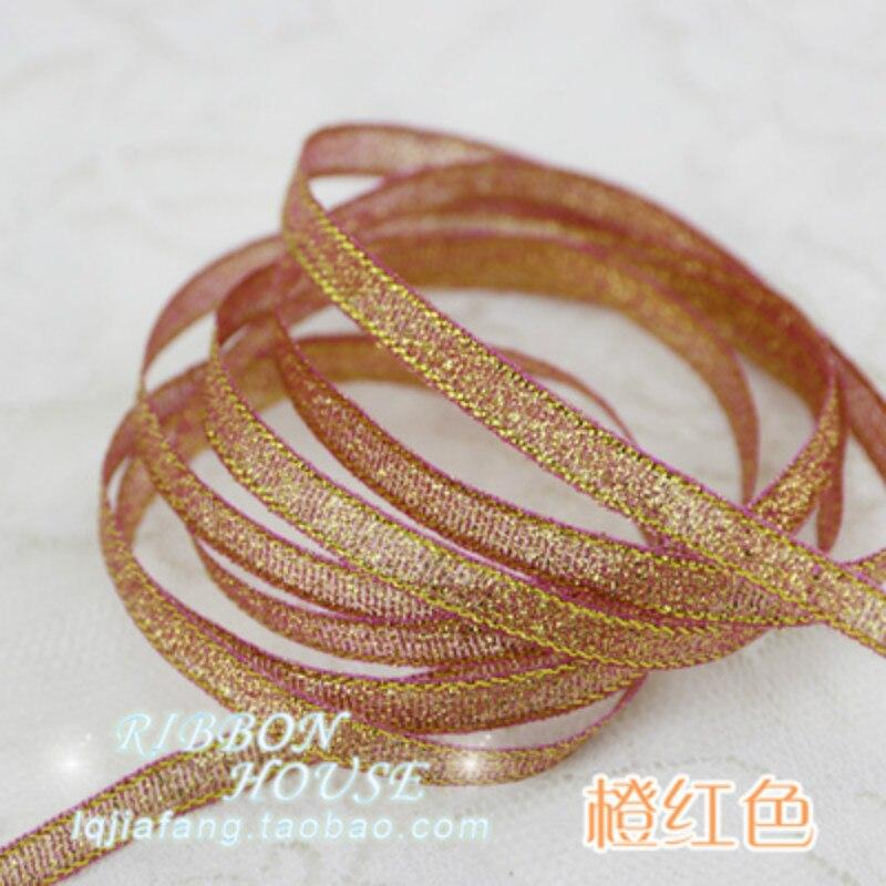 ** XMAS 34mm Wide ** GOLD Ribbon