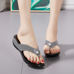 Image 5 - GKTINOO 2020 Summer Platform Flip Flops Fashion Beach Shoes Woman Anti slip Genuine Leather Sandals Women Slippers Shoe