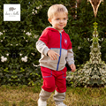 DB4756 dave bella spring baby boys sports clothing sets kids hooded sets clothes 1set toddle red set