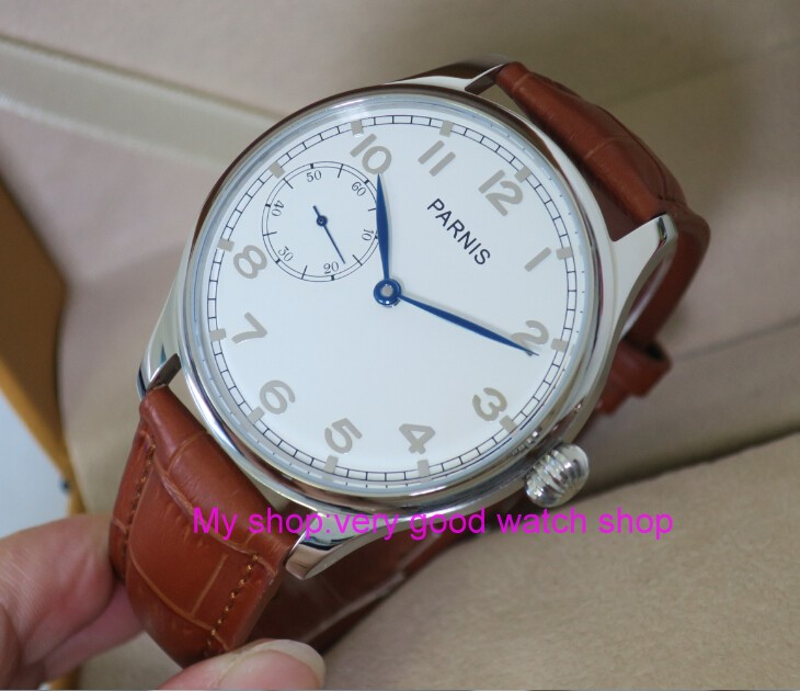 все цены на 44MM PARNIS Asian ST3600 17 jewels Mechanical Hand Wind men's watch High quality WATCH wholesale xrnm19 онлайн