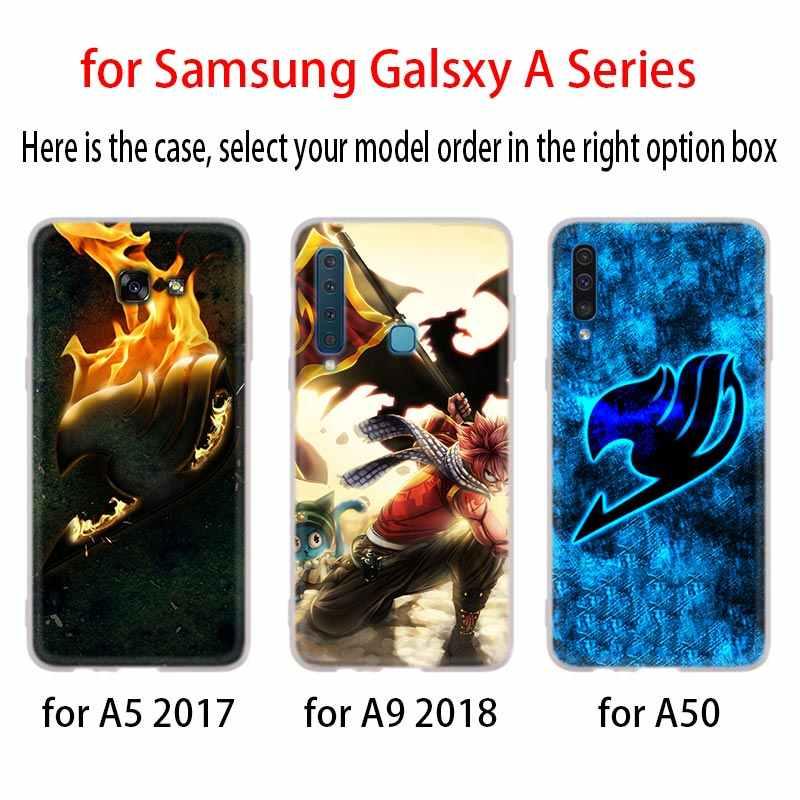 Peri kuyruk yumuşak kapak telefon kılıfı için Samsung Galaxy A50 A10 A20 A30 A40 A60 A70 A6 A8 artı A7 a9 2018 A3 A5 2017 A90