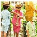 Новый летний стиль детей конфеты цвет колен брюки короткие пальто свадебный костюм дети хлопка куртки blazer костюмы для ребенка мальчики
