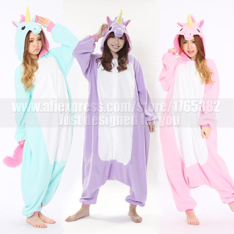 576a430640b3 Fleece Women Men Adult blue stitch unicorn Onesies Costume Halloween Japan  Animal Cosplay Pajamas Pyjamas Tracksuit in Winter